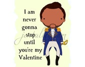Hamilton Lafayette Valentine's Day card Broadway
