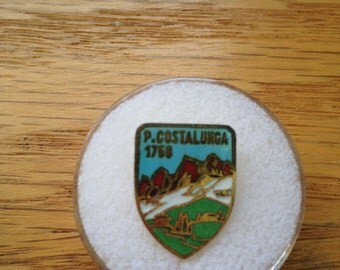 Vintage Italian Alps P. Costalunga M 1750 Hat or Lapel Pin
