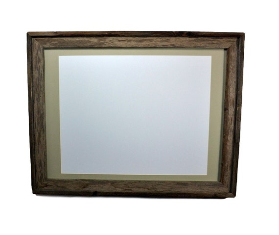 18x24 Rustic Wood Picture Or Poster Frame With Mat By
