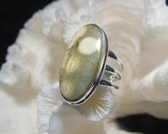 Ocean Jasper Ring Size 7.75