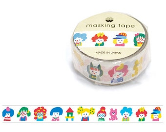 Popping kids Masking Tape • Children Mind Wave Japanese Washi Tape (92691)