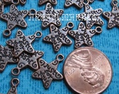 Star Charms, Antique CoppeU Charm, 24 Copper Jewelry Supplies, Jewelry Findings, Boho Charms, Boho Findingsr, JUST FOR YO