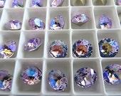 6 Violet Glacier Blue Swarovski Crystal Chaton  Stone 1088 39ss 8mm