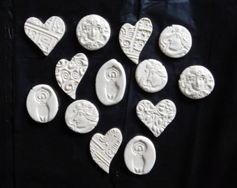 Today's SUPER special... porcelain hearts and goddess coins