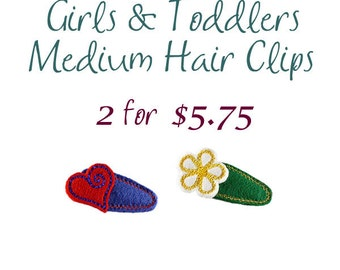 Girls and Toddlers Hair Clips, Birthday Party Favors for Girls