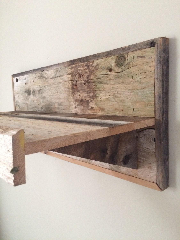 Rustic Wall Mounted Reclaimed Wood Shelf Deep Shelving Home