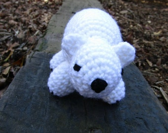 Polar Bear Baby - Plush Polar Bear - White Polar Bear Stuffed Animal - Amigurumi Bear - Crochet Toy Bear - Ready-to-Ship