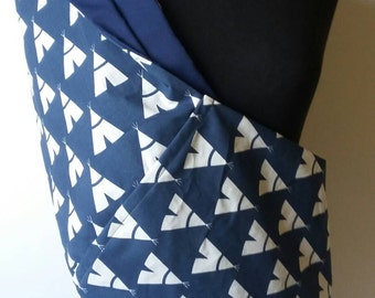 Baby Sling  Baby Carrier - Tee Pee Navy Lining