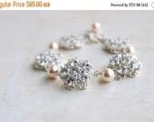 27% Off Sale Bridal Bracelet Swarovski Pearl Cubic Zirconia CZ Sterling Silver Brooch AB2