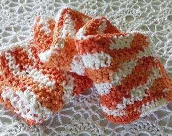 Dishcloths, Dish Rags, Coral Peach Wash Cloths
