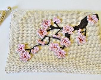 Japanese garden crochet clutch pattern pdf pattern crochet clutch tutorial tunisian crochet clutch bag pattern