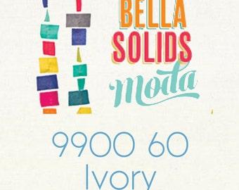 Bella Solids Ivory 9900 60 Moda fabric 1/2 yard