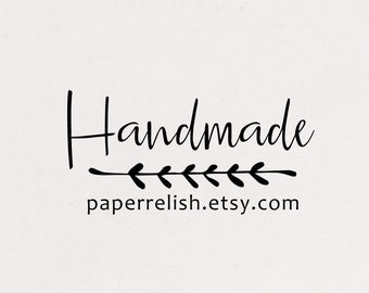 Etsy Shop Stamp, Business Stamp, Handmade By Stamp, Pretty Packaging Stamp, Small Business Stamp, Product Tag Stamp, (219)
