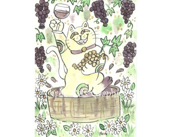 A Very Lucky Vintage  - Choose from ACEO Print, Note Cards, or Art Print