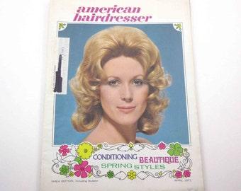 Vintage 1970s American Hairdresser Magazine Beauty Parlor Salon