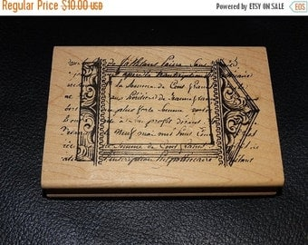 ON SALE Rubber Stamp, Ornate pattern,  Christmas Rubber Stamp, Holiday Card Stamp, Stampers Anonymous P4-723, French