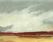 MINI 1610, 0il painting, original landscape, miniature art, 100% charity donation, oil painting on cardboard
