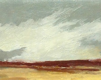 MINI 1610, 0il painting, original landscape, miniature art, 100% charity donation, oil painting on cardboard