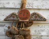 Harvest Angel Punch needle - PAPER PATTERN - from Notforgotten Farm™