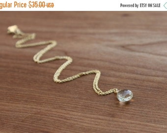 15%SALE Daintiness Collection- Yellow Topaz and Gold Filled Necklace NEW