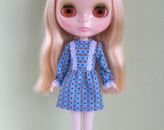 Bright sky mini dress for Blythe