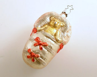 Vintage Christmas Ornament Baby Bear West Germany