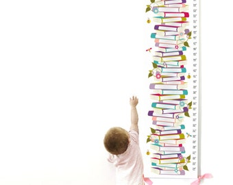 Growth Chart, Canvas Growth Chart, Book Growth Chart, Custom Growth Chart, Custom Purple Growth Chart, Purple Book Growth Chart