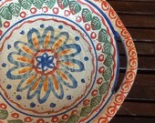 Italian Pottery Bohemian Anthropologie Style Display Bowl