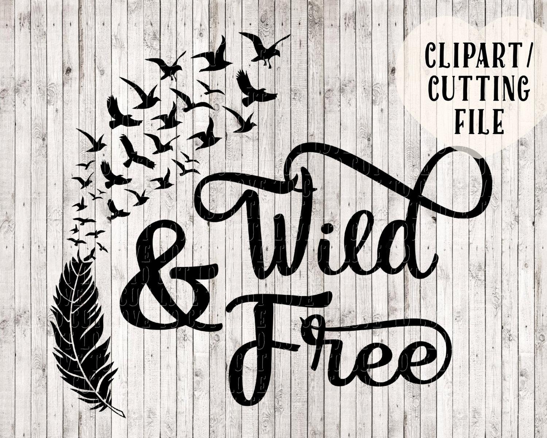 Wild and free svg bird svg feather svg svg designs vinyl for Wild design