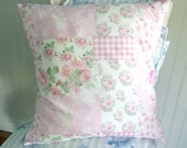 Summer Garden cotton Cottage pillow