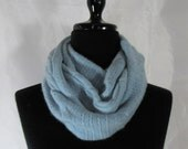 Infinity Cashmere Wool Scarf made from an upcycled smokey blue sweater