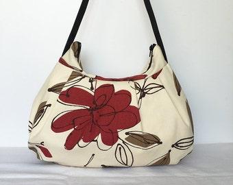 Pleated Bag // Shoulder Purse - Bremer Garnet