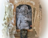 RESERVED LISTING for.....mmende       Handmade Altered Angel Blank Book.....reflections