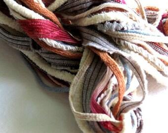 Fibers Lot - Craft Suplies - Dreamcatcher - Altered Art Supplies Knitting Supplies - Crocheting Supplies - Scarf Supplies - Yarn For Crafts