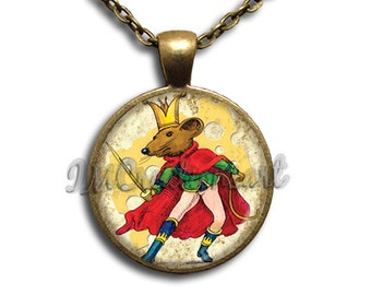 Nutcracker King Mouse - Round Glass Dome Pendant or with Necklace by IMCreations -   BA101