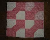 Vintage Bowtie Quilt Piece | Antique Bowtie Quilt Piece |  Old  Bowtie Quilt Piece |  Cutter Quilt Piece 9.5  X 9.5