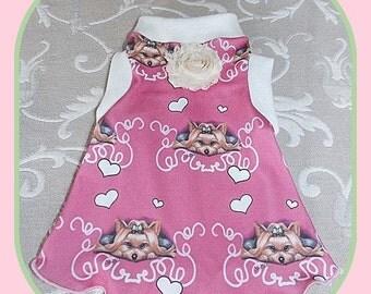 Pet Clothing Elegant Simplicity Slip Dress in Spoonflower Fabric