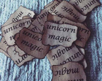 Labels x 10 suits tiny vials - fairy magic, pixie dust etc, party favours, handmade