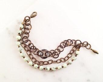 Speckled Lime Bracelet