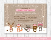 Winter Woodland Animals B...