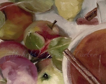 Oil Painting 35% Off 8x8 Hot Cider Apple Cider Autumn Love Fall Vibe Oil Painting Still Life Original