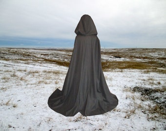 Black Wool Cloak Cape Halloween Costume Renaissance Wedding Harry Potter