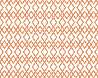 50% OFF Lula Magnolia Orange Lattice - 1/2 Yard