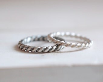 Twisted ring. Sterling silver twisted ring. Twisted band, silver twisted band, stacking ring, wedding ring, wedding twisted band, stackable.