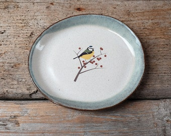 Little Blue Tit Biscuit Plate