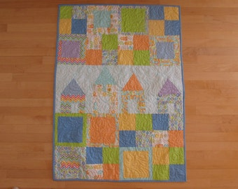 Crib Quilt handmade and machine quilted