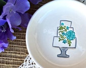 Sale - Wedding Cake Ring Dish, Ring Holder, Jewelry Bowl, Trinket Dish, Wedding Ring Dish, Engagement Ring Dish, Ready to Ship