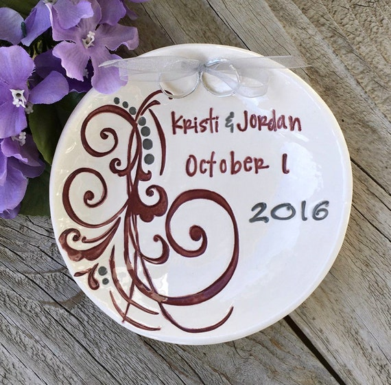 Freeform Flourish Personalized Ring Bearer Bowl. Ring Pillow Alternative, Wedding Ring Bowl, Wedding Ring Dish, Ring Warming Ceremony