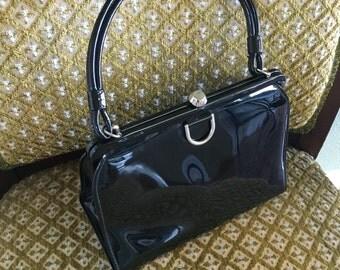 1960's Theodore California Patent Leather Handbag