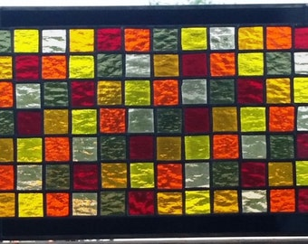 """Stained Glass Panel - """"Fall Colors II"""" (P-60)"""